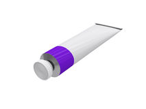 Tube on a white background, 3D rendering Stock Photography