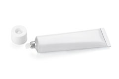 Tube of white color Royalty Free Stock Image