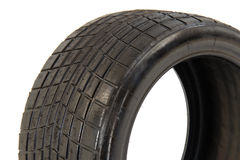 Tubeless radial race tire detail Stock Images