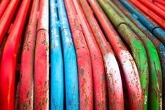 Tubería de acero coloreada Fotografía de archivo libre de regalías
