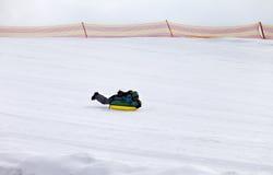 Tubería de la nieve en estación de esquí Imagenes de archivo
