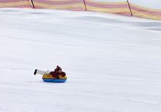 Tubería de la nieve en estación de esquí Foto de archivo