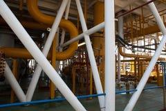 Tubería de la plataforma petrolera y sistema de transferencia de la presión Imagen de archivo libre de regalías
