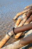 Tubería del agua para la irrigación Foto de archivo libre de regalías