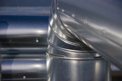 Tubería industrial Imagen de archivo libre de regalías