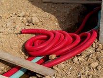 Tubería para los cables eléctricos Imagenes de archivo