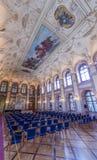 Tubería Pasillo del palacio de Waldstein imagenes de archivo