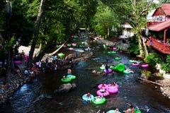Tubería perezosa del río en Helen, GA Imagen de archivo libre de regalías