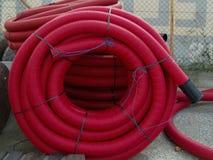 Tubería protectora para los cables eléctricos Fotos de archivo