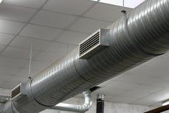 Tuberías de acero inoxidables del sistema de calefacción fotografía de archivo libre de regalías