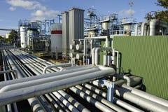 Tuberías e industrias de petróleo Foto de archivo libre de regalías