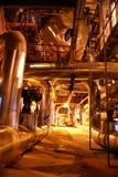 Tuberías en la central eléctrica Fotografía de archivo