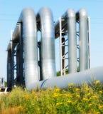Tuberías industriales Foto de archivo libre de regalías