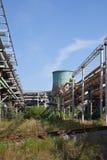 Tuberías industriales del gas y del calor Imágenes de archivo libres de regalías