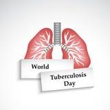 Tuberkulose-Tageshintergrund Stockbild