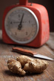 Tubers of Jerusalem artichoke Stock Photography