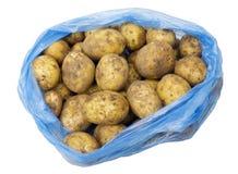 Tubers of young yellow potatoes Stock Image