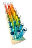 Tubes à essai dans l'armoire Image stock
