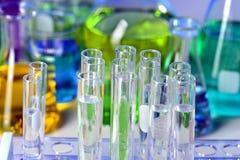 Tubes à essai dans le laboratoire Image libre de droits