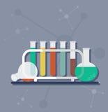 Tubes à essai de la Science Photographie stock libre de droits