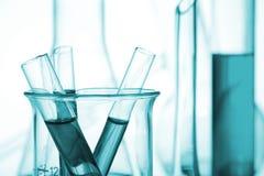Tubes à essai de la Science et de recherches médicales Photos libres de droits