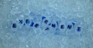 Tubes à essai expérimentaux sur la glace