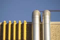 Tubes. Close up of an industrial building Stock Image