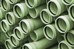 Tubes. Depth of a pile of green tubes for installations Stock Image