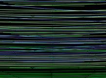 Tubes au néon horizontaux verts et bleus sur un fond noir Photos libres de droits