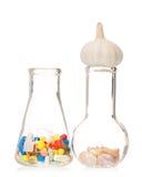 Tubes avec des pilules Photos libres de droits