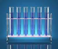 Tubes avec des produits chimiques Images libres de droits