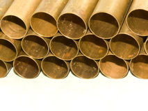 Tubes from a brass Stock Images