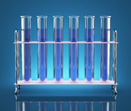 Tubes with chemicals Royalty Free Stock Images