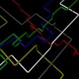 Tubes colorés Image stock