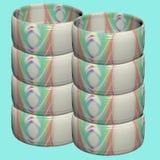 Tubes colorés Photos libres de droits