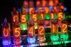 Tubes colorés de nixie images libres de droits