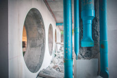 Tubes in construction site Stock Image