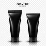 Tubes cosmétiques noirs Photo libre de droits