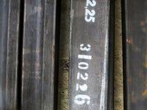 Tubes d'acier de construction Photos stock