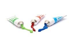Tubes de couleur Photo stock