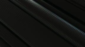 Tubes de fibre de carbone Image stock
