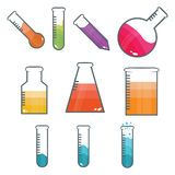 Tubes de laboratoire illustration stock