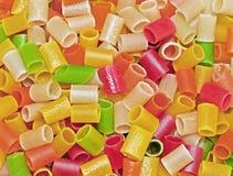 Tubes de pâtes Photographie stock