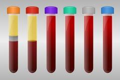 Tubes de prise de sang Photo libre de droits