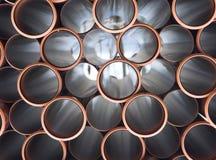 Tubes de PVC Images stock