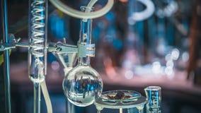 Tubes de verre de essai dans le laboratoire d'expérience photo libre de droits