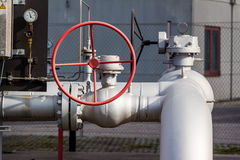 Tubes in a district heating plant Stock Image