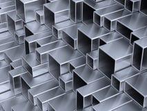 tubes en métal 3d Photo stock