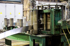 Tubes factory. Tubes manufacture, factory, process of production royalty free stock photography