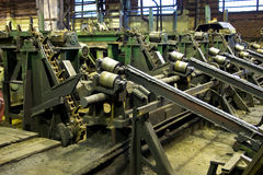 Tubes factory. Tubes manufacture, factory, process of production Royalty Free Stock Image